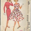 McCALL'S PATTERN 5294 SIZE 10 TEEN DRESS WITH SLIM OR FULL SKIRT