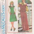 McCALL'S 1976 PATTERN 5301 SIZE 8 MISSES' TOP, SKIRT & PANTS UNCUT