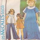 McCall's PATTERN 5503 SIZE 4 GIRLS' DRESS, TOP, PANTIES UNCUT