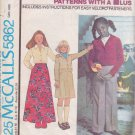 McCALL'S PATTERN 5862 SIZE 14 GIRL'S JACKET, SKIRT AND PANTS