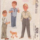 McCALL'S 1952 PATTERN 6254 SIZE 2 BOYS' SHIRT AND PANTS
