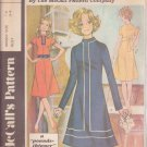 McCall's PATTERN E dated 1971 SIZE 12 Misses' Dress 3 Variations UNCUT