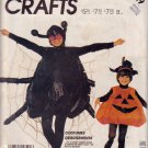 McCALL'S 1987 PATTERN P989 3352 SIZE SMALL ADULT COSTUMES SPIDER & PUMPKIN UNCUT