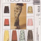 McCALL'S 1999 PATTERN 2129 SIZE 10/12/14 MISSES' SKIRTS CUT FOR SHORT SKIRTS