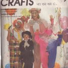 McCALL'S 1985 PATTERN 2211 SIZE MD ADULT CLOWN & HOBO COSTUMES
