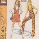 McCALL'S 1969 PATTERN 2243 SIZE 16 MISSES' JUMPER OR PANT JUMPER