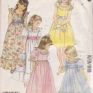 McCALL'S 1986 PATTERN 2328 SIZE 7 GIRLS' GOWN OR DRESS IN 5 VARIATIONS