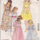 McCALL'S 1986 PATTERN 2328 SIZE 10 GIRLS' GOWN OR DRESS IN 5 VARIATIONS