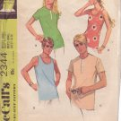 McCALL'S PATTERN 2344 SIZE SMALL MISSES' & MEN'S SHIRTS UNCUT