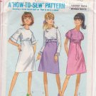 SIMPLICITY PATTERN 6884 SIZE 12 DRESS IN 3 VARIATION from 1966