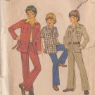 SIMPLICITY VINTAGE 1975 PATTERN 7036 SIZE 6 BOYS LEISURE SUIT