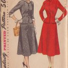 SIMPLICITY PATTERN 4183 SIZE 14 MISSES 2 PC SUIT WITH DETACHABLE COLLAR & CUFFS