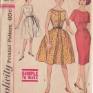 SIMPLICITY VINTAGE PATTERN 4388 SIZE 14 MISSES DRESS 3 VERSIONS