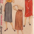 SIMPLICITY VINTAGE PATTERN 4491 SIZE 30 MISSES SKIRT 2 VERSIONS