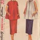 SIMPLICITY VINTAGE PATTERN 4560 SIZE 16 MISSES 2 PIECE MATERNITY DRESS
