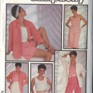 SIMPLICITY PATTERN 6886, SIZE 8/10/12 MISSE'S TOP,JACKET,PANTS,SHORTS,SKIRT