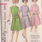 SIMPLICITY VINTAGE PATTERN 4296 SIZE 16 MISSES 2 PIECE DRESS