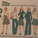 SIMPLICITY PATTERN 7070 SIZE 10 DATED 1975 MISSES' PANTS JACKET SKIRT TOP