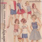 SIMPLICITY VINTAGE PATTERN 4457 SIZE 8 CHILD'S BLOUSE TOP SKIRT SHORTS