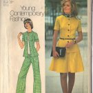 Simplicity pattern 6791 SZ 14 dated 1974, Misses' short 2-piece dress,top,pants