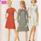 SIMPLICITY VINTAGE 1968 PATTERN 7802 SIZE 10 MISSES' DRESS 3 VARIATIONS