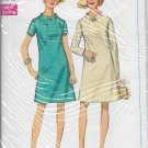 SIMPLICITY VINTAGE 1968 PATTERN 7807 SIZE 14 MISSES' DRESS 2 VARIATIONS