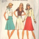 SIMPLICITY VINTAGE 1974 PATTERN 6857 SIZE 16 MISSES ONE YARD SKIRTS