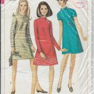SIMPLICITY VINTAGE 1967 PATTERN 7195 SIZE 10 MISSES'  DRESS 3 VARIATIONS