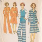 SIMPLICITY VINTAGE 1975 PTRN 7179 SZ 16 MISSES' JACKET 2 PIECE DRESS TOP PANTS