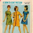 SIMPLICITY VINTAGE 1967 PATTERN 7219 SIZE 10 MISSES'  DRESS 3 VARIATIONS