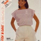 McCALL'S PATTERN 2506 SIZE 12/14 MISSES' TOP & SHORTS