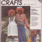 McCall's Pattern 2625 dated 1986 size Medium Adult Raggedy Ann & Andy