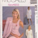 McCall's Pattern 2618 dated 2000 size 10/12/14 Misses' JACKET & DRESS