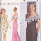 SIMPLICITY 1992 PTRN 7817 SZ 10/12 MISSES' JESSICA McCLINTOCK DRESS 3 VARIATIONS