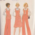 SIMPLICITY 7305 PATTERN SIZE 20 1/2 MISSES' VEST, SKIRT AND PANTS
