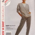 McCall's VINTAGE 1989 PATTERN 4623 SIZES MD & LG MISSES' CARDIGAN & PANTS UNCUT