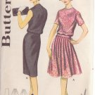 VINTAGE BUTTERICK PATTERN 2105 SIZE 12 MISSES' 2 PIECE DRESS IN 2 VARIATIONS