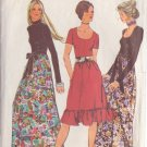 SIMPLICITY VINTAGE 1971 PATTERN 9602 SIZE 16 MISSES' EVENING DRESS 2 LENGTHS