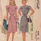 McCALL'S VINTAGE PATTERN 6469 SIZE 12  MISSES' 1946 DRESS IN 2 VARIATIONS