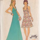 SIMPLICITY VINTAGE 1974 PATTERN 6385 SIZE 10 MISSES HALTER DRESS IN 2 LENGTHS