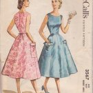 McCALL'S PATTERN 3567 DATED 1956 SIZE 12 MISSES DRESS