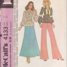McCALL'S PATTERN 4133 DATED 1974 SIZE 9 MISSES TOP AND PANTS UNCUT
