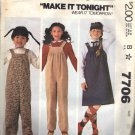McCALL'S PATTERN 7706 DATED 1981 SIZE 10 GIRL'S JUMPER & JUMPSUIT UNCUT