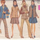 SIMPLICITY PATTERN 8356 SIZE 12 MISSES JACKET, SLEEVELESS JACKET, JUMPER, PANTS.