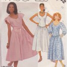 McCALL'S VINTAGE 1986 PATTERN 2532 SIZE 10 MISSES' DRESS 3 VARIATIONS
