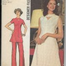 SIMPLICITY VINTAGE PATTERN 5009 MISSES' SIZE 12 DESIGNER DRESS, TUNIC, PANTS