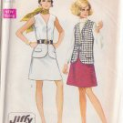 SIMPLICITY PATTERN 8277 SIZE 16 MISSES' JIFFY VEST AND ONE PIECE SKIRT UNCUT