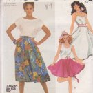 McCALL'S PATTERN 2009 SIZE 14 MISSES' SET OF 2 SKIRTS & POODLE APPLIQUE