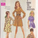 SIMPLICITY VINTAGE PATTERN 8296 SZ 9/10 YNG JR/TEEN SHIRT DRESS WITH 2 SKIRTS UNCUT