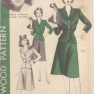 HOLLYWOOD PATTERN 927 1940'S SIZE 14 2 PC DRESS 2 VARIATIONS MARGUERITE CHAPMAN